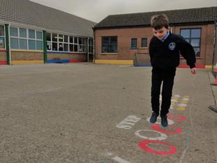 New Playground Markings