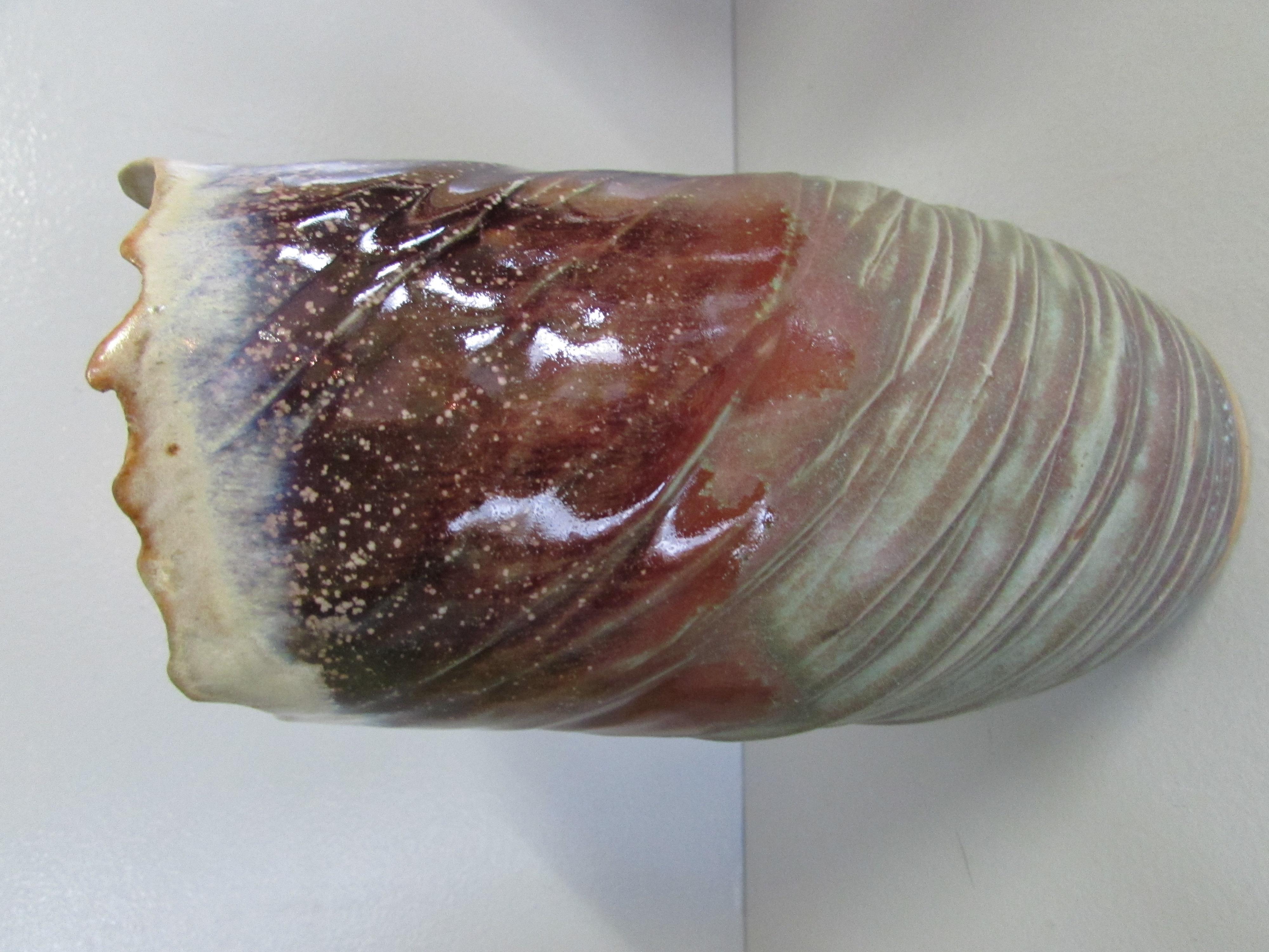 Vase dentelé