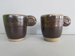 Duo tasses à café anse spirale