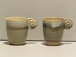 Tasses à café anse-spirale _aurore_