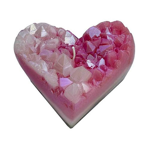 ZenDen Heart Crystal Candle