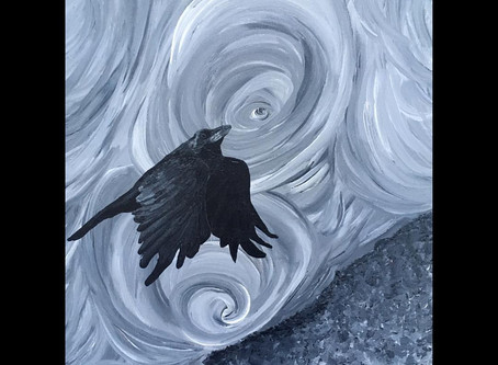 The Spiralling Raven