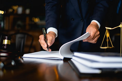 Close up lawyer businessman working or r
