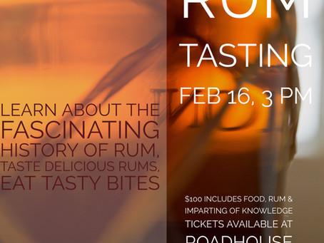 Rum Tasting Event