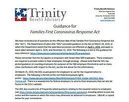 Guidance for Families First Coronavirus Response Act