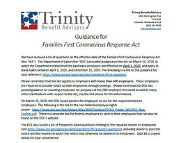 Guidance for Families First Coronavirus Response Act