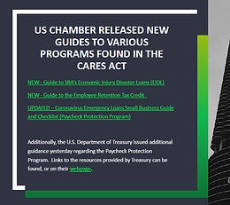 US Chamber Released New Guides to Various Programs Found in the CARES Act
