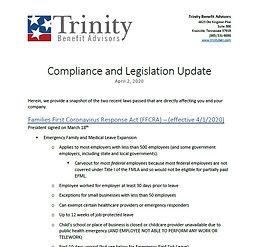 Compliance and Legislation Update