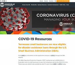 Knoxville Chamber COVID Resources