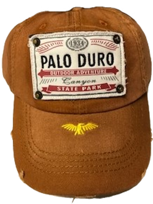 Distressed Brown Baseball Cap