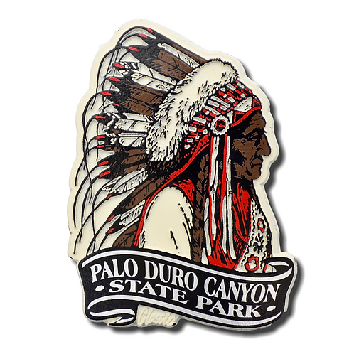 Indian Chief Palo Duro Canyon Magnet