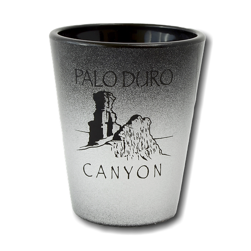 Black and Silver Shot Glass