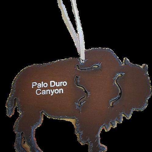 Metal Bison Ornament