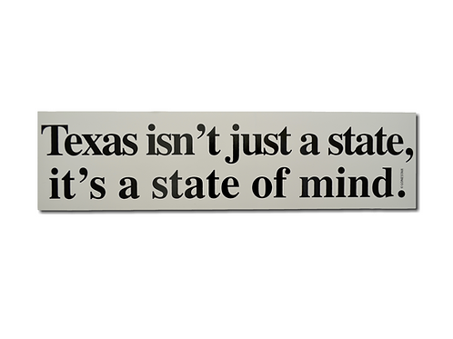 Texas State of Mind Bumper Sticker