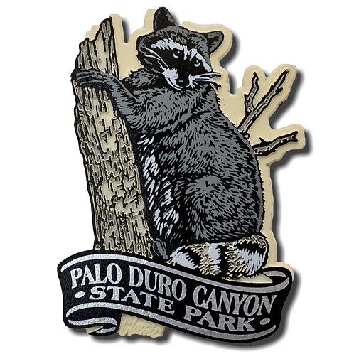 Raccoon Palo Duro Canyon Magnet