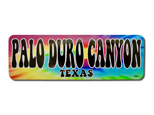 Palo Duro Canyon TEXAS Tie Dye Decal