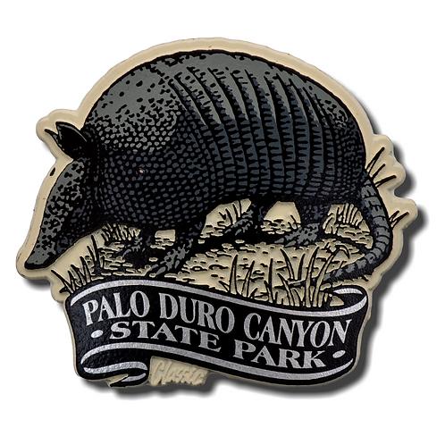 Armadillo Palo Duro Canyon Magnet