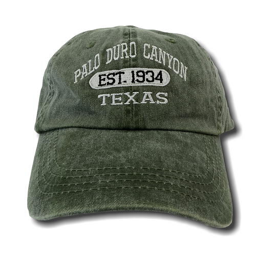 Est. 1934 Palo Duro Canyon Distressed Baseball Hat