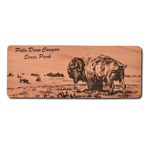 Bison Red Cedar Bookmark
