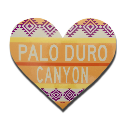 Palo Duro Canyon Aztec Heart Decal