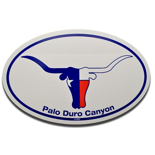Texas Longhorn Palo Duro Canyon Decal
