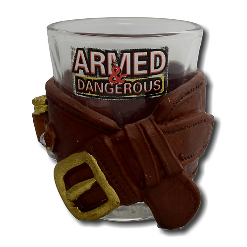 Armed and Dangerous Shot Glass