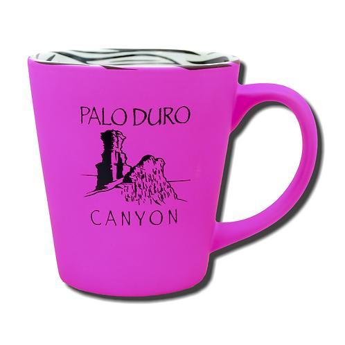 Hot Pink Zebra Stripe Palo Duro Canyon Mug
