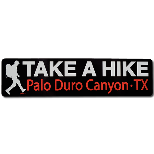 Take a Hike Palo Duro Canyon Decal