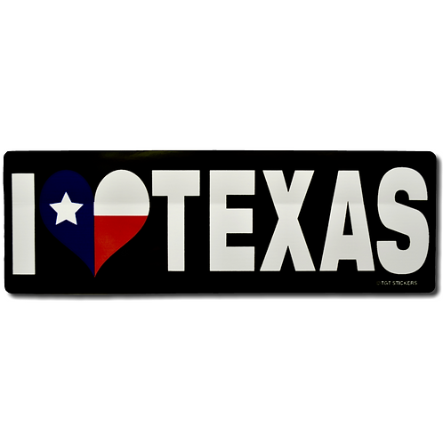 I ♥ TEXAS Decal
