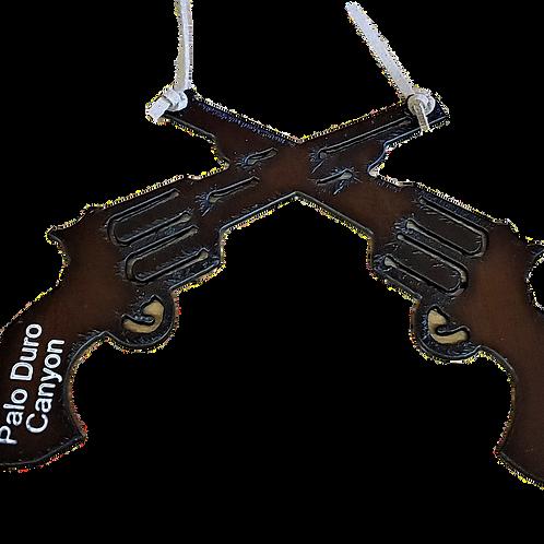 Metal Gun Ornament
