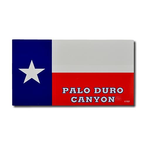 Texas Flag Palo Duro Canyon Decal