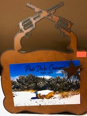 Metal Gun Picture Frame (photo not included)