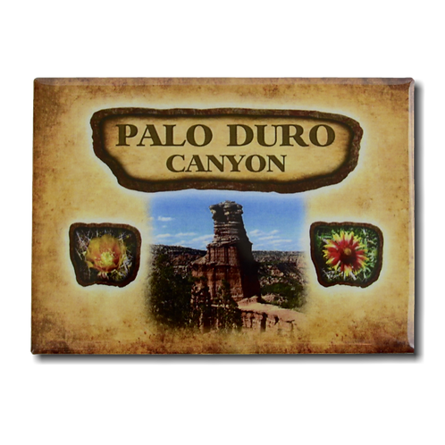 Palo Duro Canyon History 2 Sided Magnet