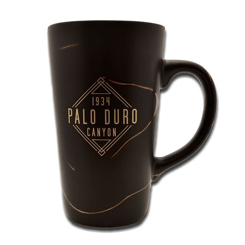 Tall Black Palo Duro Canyon 1934 Mug