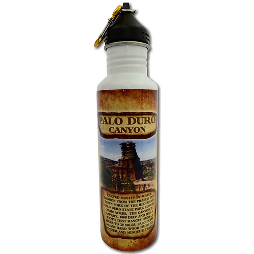 Palo Duro Canyon History Metal Water Bottle