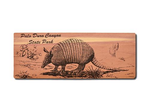 Armadillo Red Cedar Bookmark