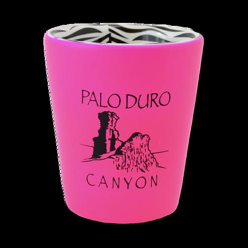 Hot Pink Zebra Print Shot Glass