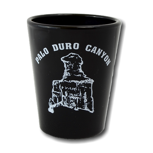 Black Palo Duro Canyon Shot Glass