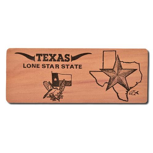 TEXAS Lone Star State Red Cedar Bookmark