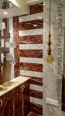 wall panel cladding pvc uv marble