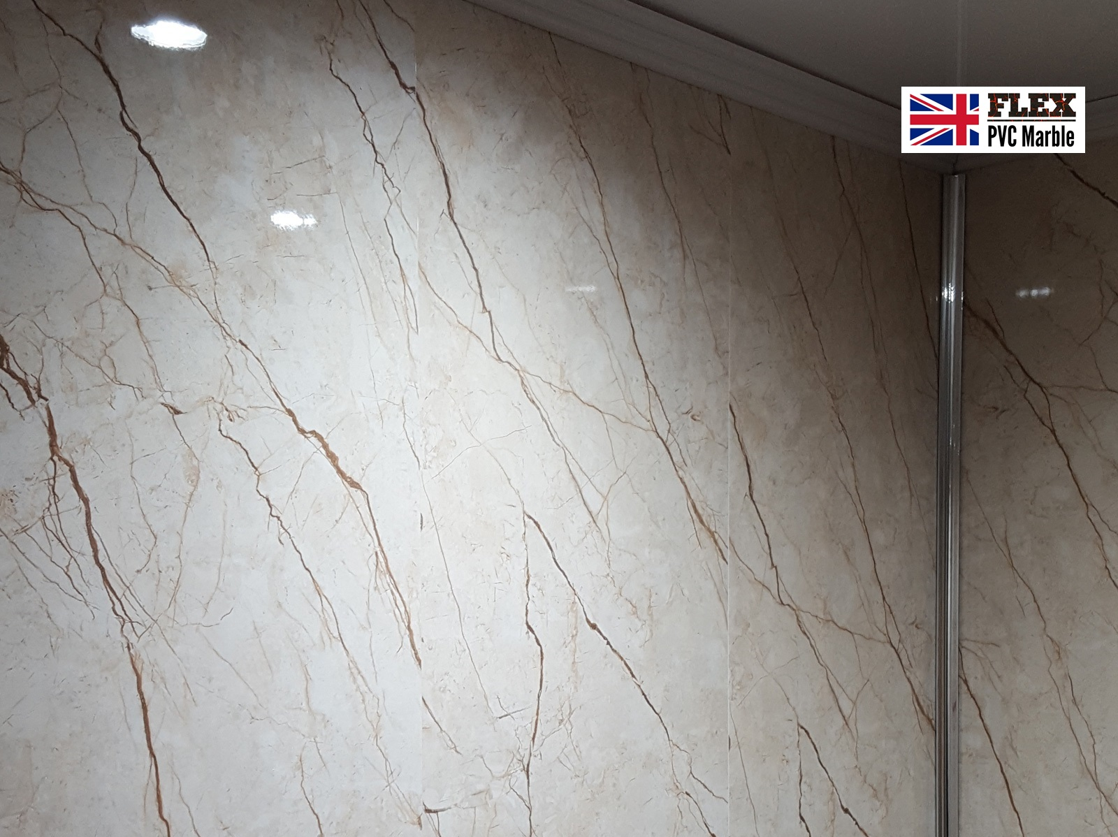 Bathroom wall FLEX-UV-Pvc-Marble