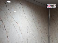 Bathroom wall FLEX-UV-Pvc-Marble
