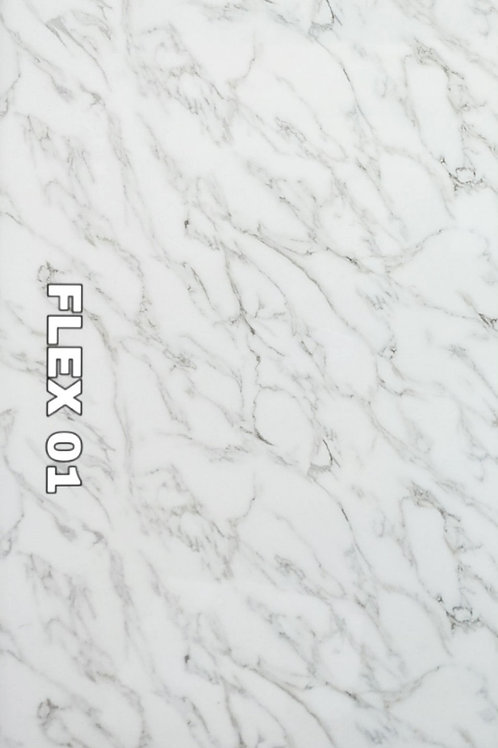 FLEX 01 - Italian Marble, Statuario White Grey (size 2x4ft, 4 no's)