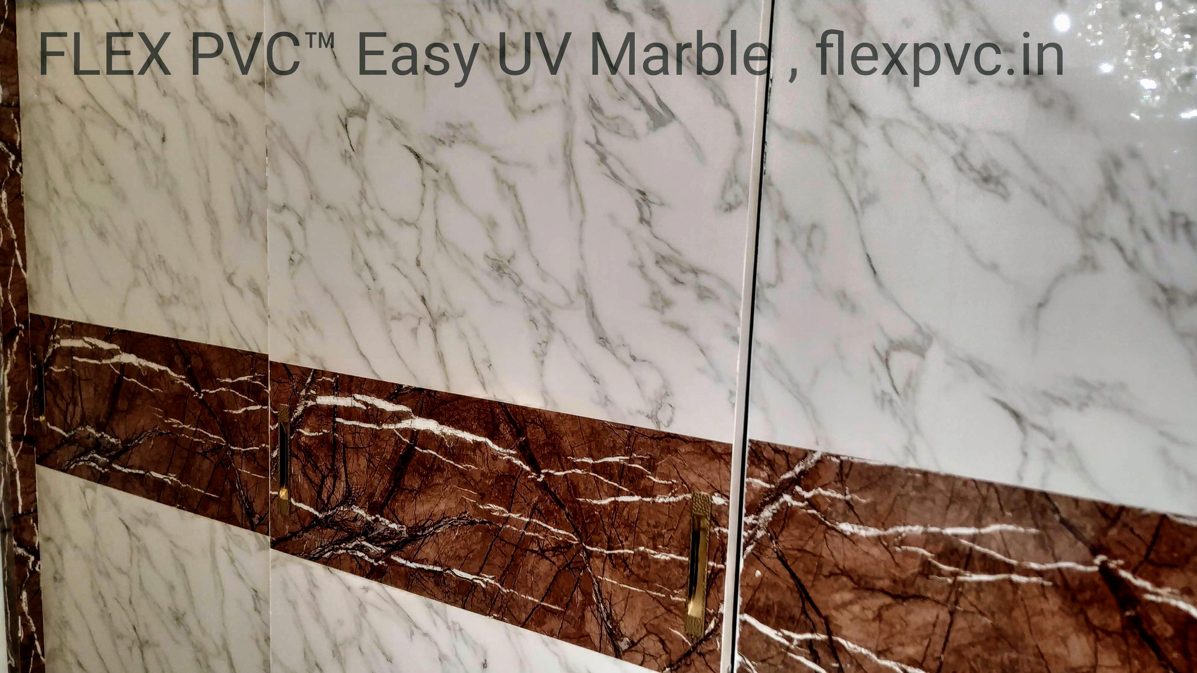 Sliding wardrobe FLEX PVC Marble