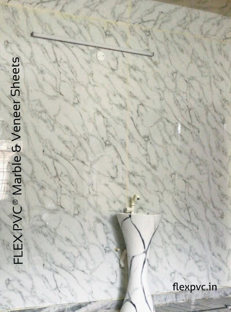 Bathroom wall pvc uv marble