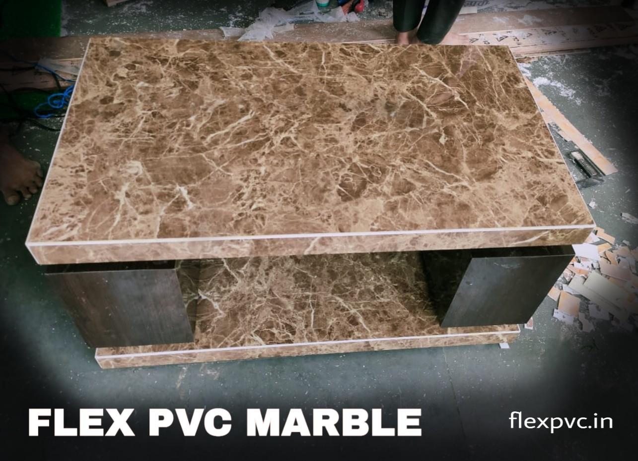 center table flex pvc marble