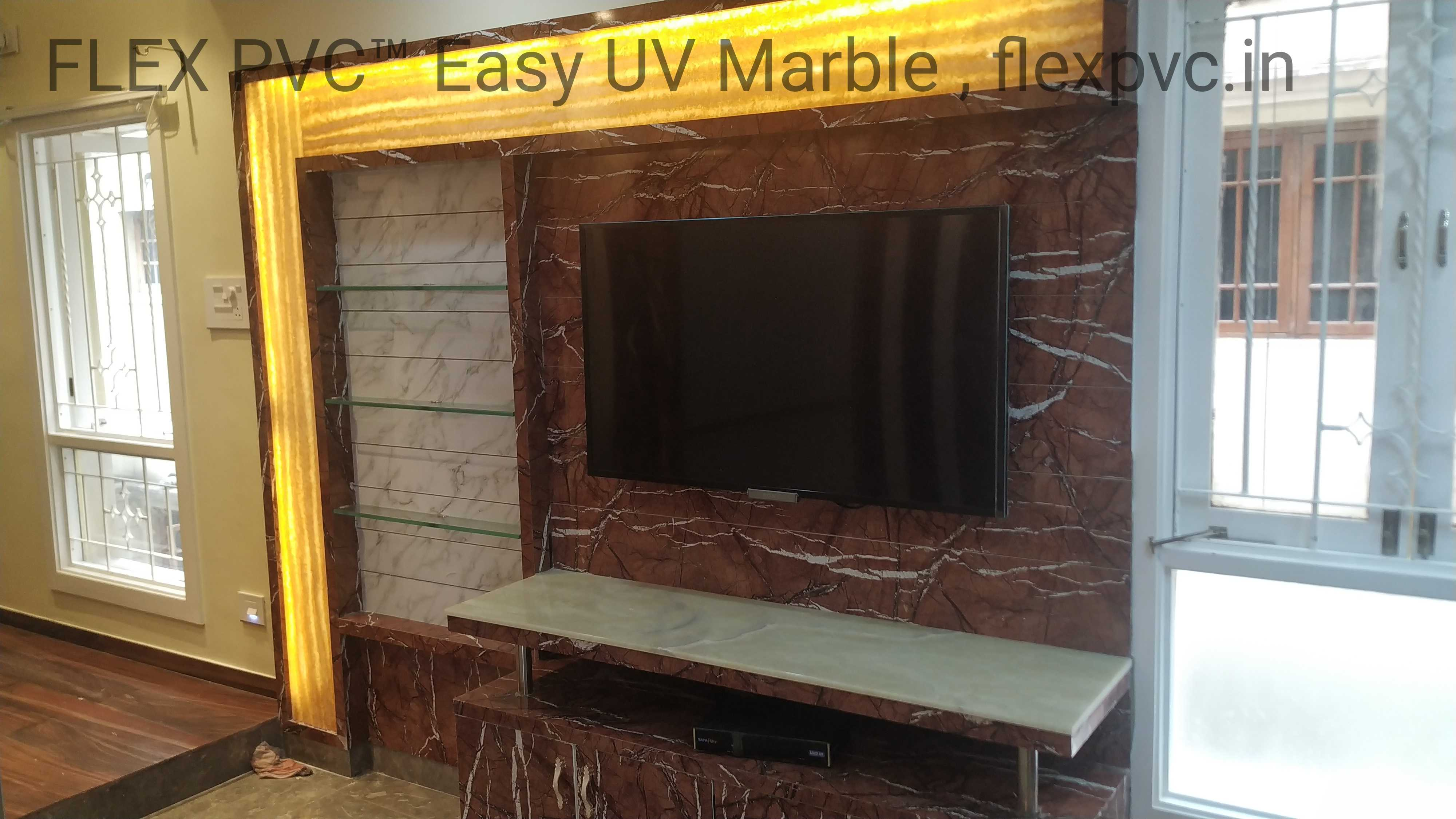 tv background flex pvc marble