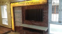 tv background flex pvc marble
