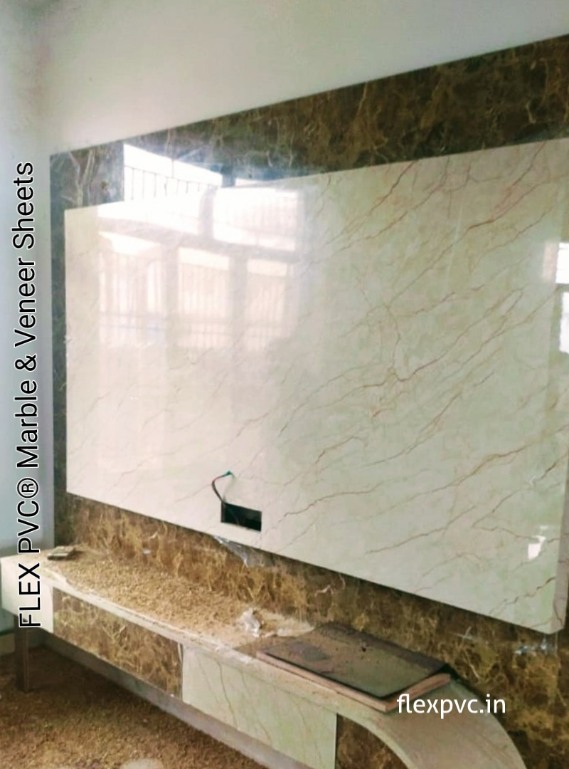 tv wall & furniture flex pvc marble