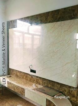 tv wall & furniture flex pvc marble